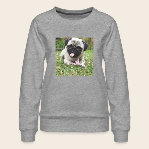 Mops Wiese - Frauen Premium Pullover