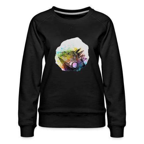 Leguan Aquarell - Frauen Premium Pullover