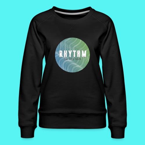 Rhythm On The Run Logo - Women's Premium Sweatshirt