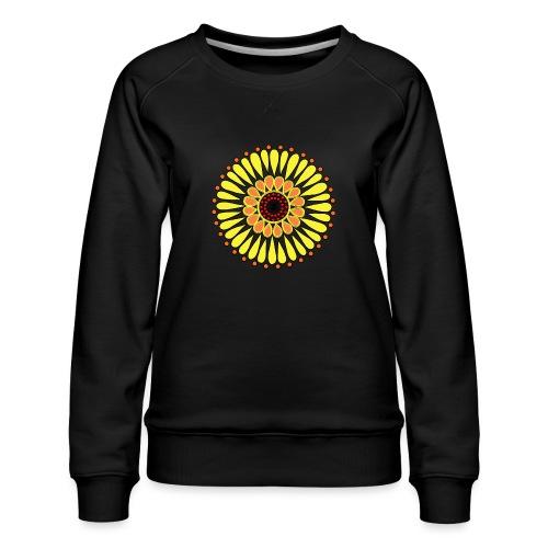 Yellow Sunflower Mandala - Women's Premium Sweatshirt