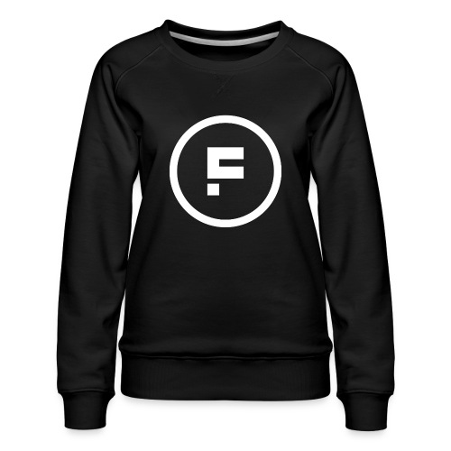 Logo Rond Wit Fotoclub - Vrouwen premium sweater