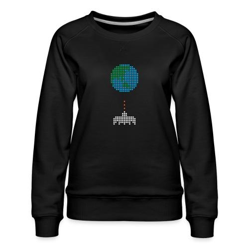 Earth Invaders - Frauen Premium Pullover