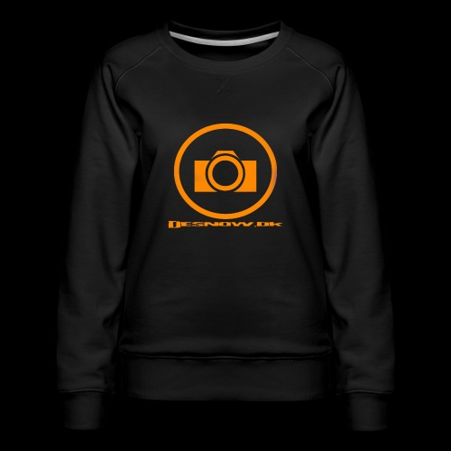 Orange 2 png - Dame premium sweatshirt