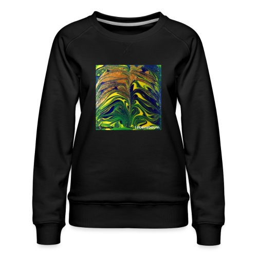 TIAN GREEN Mosaik DE029 - Lebensbaum - Frauen Premium Pullover