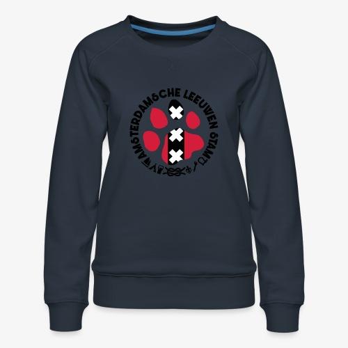 ALS witte cirkel lichtshi - Vrouwen premium sweater