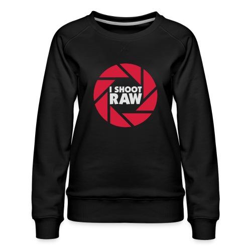 I shoot RAW - weiß - Frauen Premium Pullover