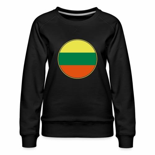 Litauen Flagge Rund Pixellamb - Frauen Premium Pullover