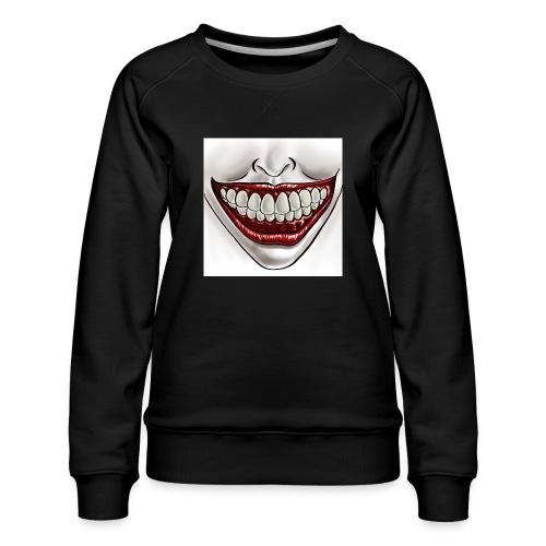 Smile Maske - Frauen Premium Pullover