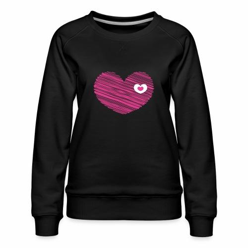 A Herzal im Herzal - Frauen Premium Pullover