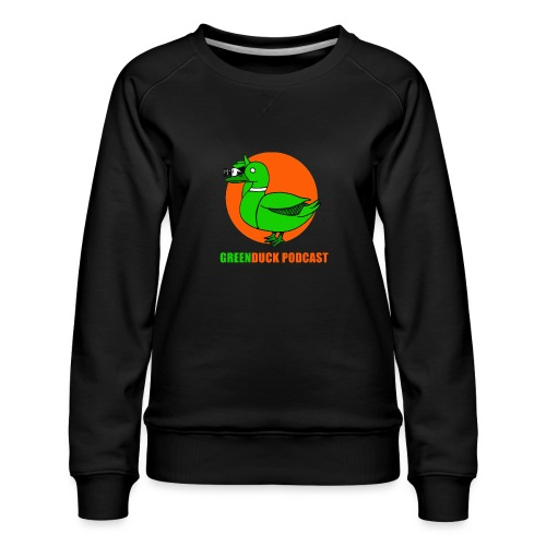 Greenduck Podcast Logo - Dame premium sweatshirt