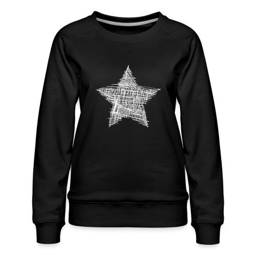 Estrella blanca - Sudadera premium para mujer