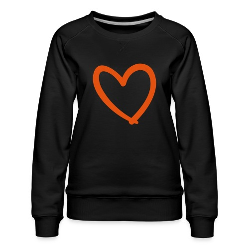 Heart Lines Pixellamb - Frauen Premium Pullover
