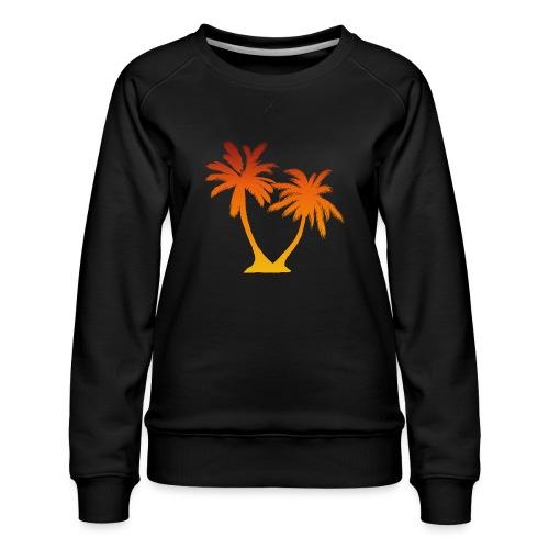 Palm Boom Zonsondergang - Vrouwen premium sweater
