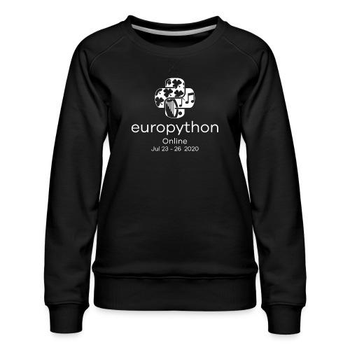 EuroPython 2020 - Vertical White Logo - Women's Premium Sweatshirt