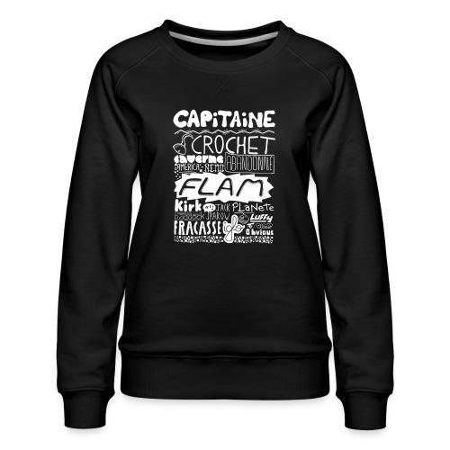 capitaine-blanc Tee shirts - Sweat ras-du-cou Premium Femme