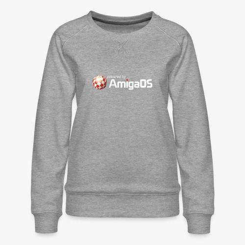 PoweredByAmigaOS white - Women's Premium Sweatshirt