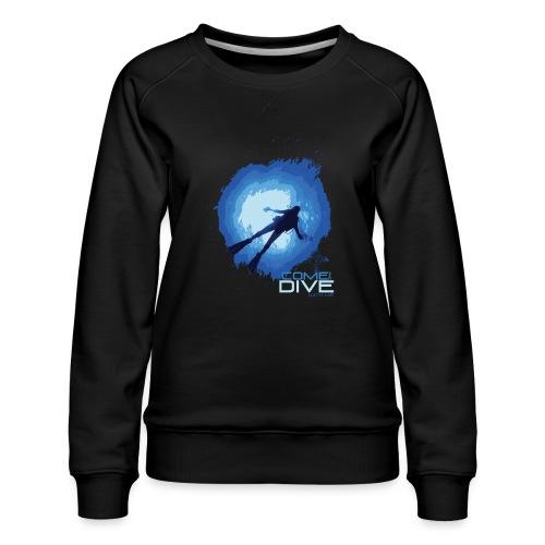 Come and dive with me - Bluza damska Premium