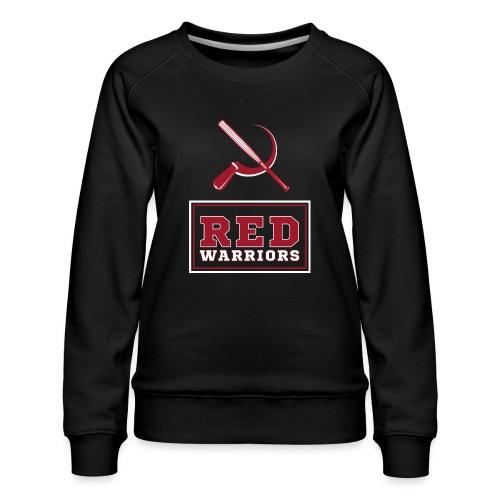 Red Warriors Logo2 - Sweat ras-du-cou Premium Femme
