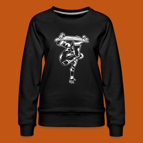 Skater / Skateboarder 03_weiß - Frauen Premium Pullover