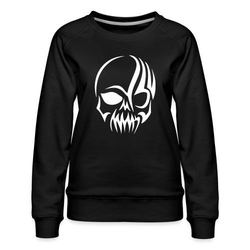 Tribal Skull white mit Logo - Frauen Premium Pullover