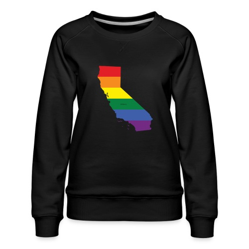 California Rainbow Flag - Women's Premium Sweatshirt