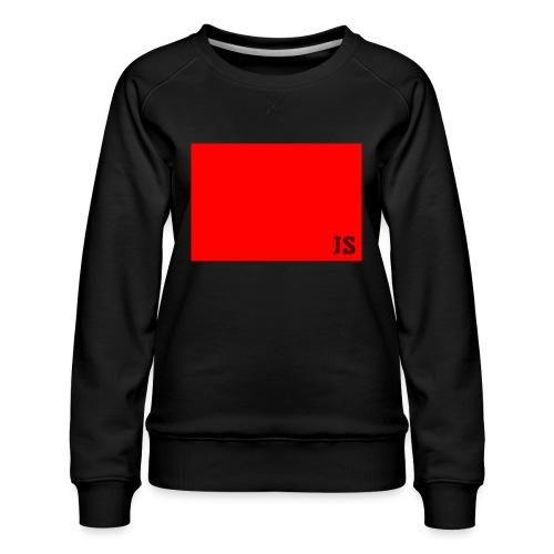 JustSquares Rood - Vrouwen premium sweater