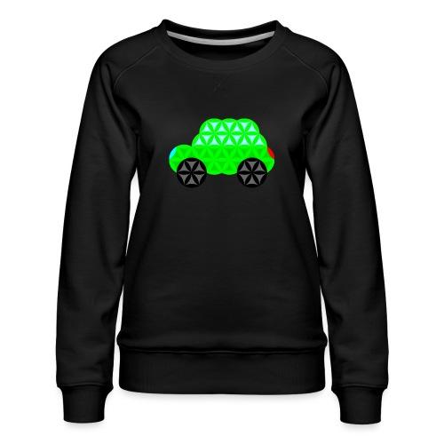 The Car Of Life - M01, Sacred Shapes, Green/R01. - Women's Premium Sweatshirt