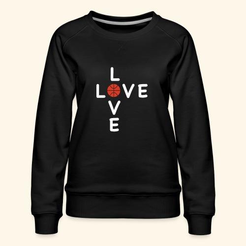 LOVE Cross basketball red 001 - Frauen Premium Pullover