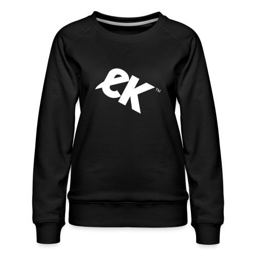EK logo blanc # 1 - Sweat ras-du-cou Premium Femme