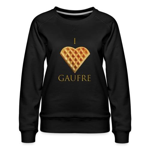 i love gaufre - Sweat ras-du-cou Premium Femme