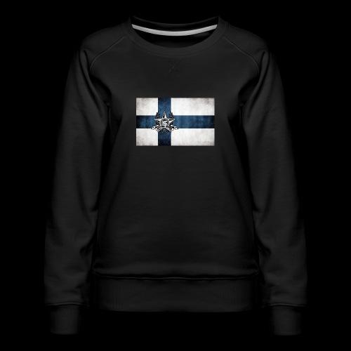 Suomen lippu - Naisten premium-collegepaita
