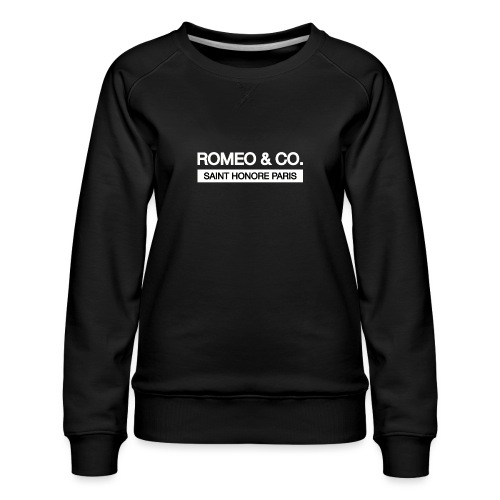 SAINT HONORE Black - Sweat ras-du-cou Premium Femme