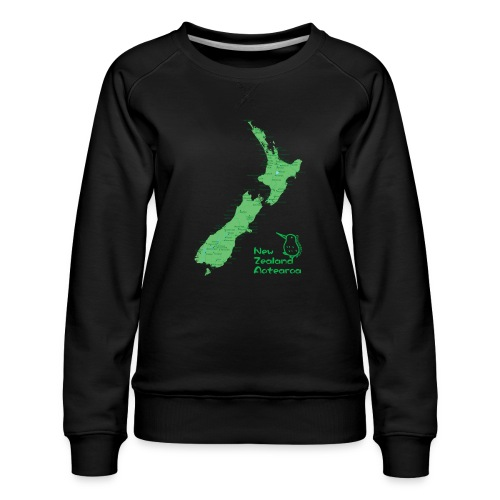New Zealand's Map - Women's Premium Sweatshirt