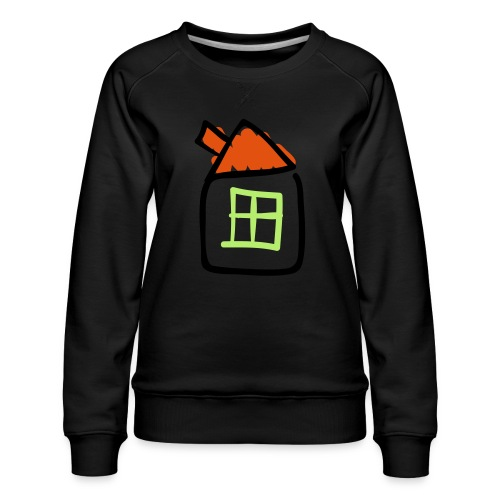 House Line Drawing Pixellamb - Frauen Premium Pullover