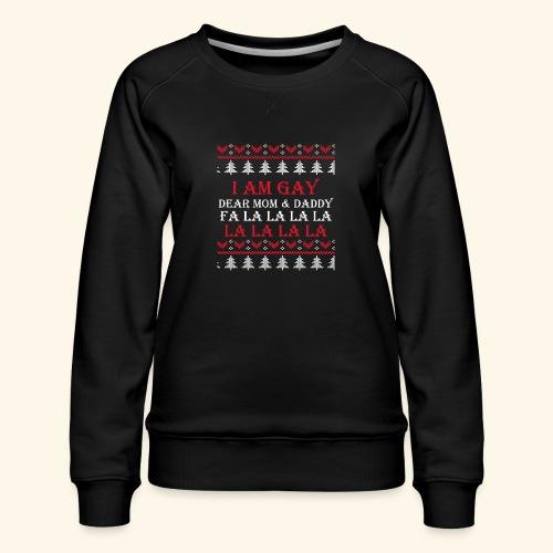Gay Christmas sweater - Bluza damska Premium
