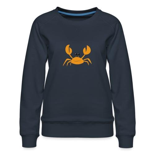 crab - Felpa premium da donna