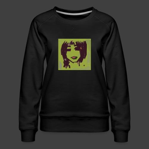 Green brown girl - Women's Premium Sweatshirt