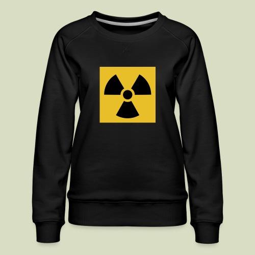Radiation warning - Naisten premium-collegepaita