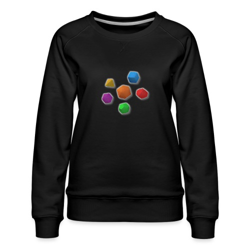 PolyDicePin - Women's Premium Sweatshirt