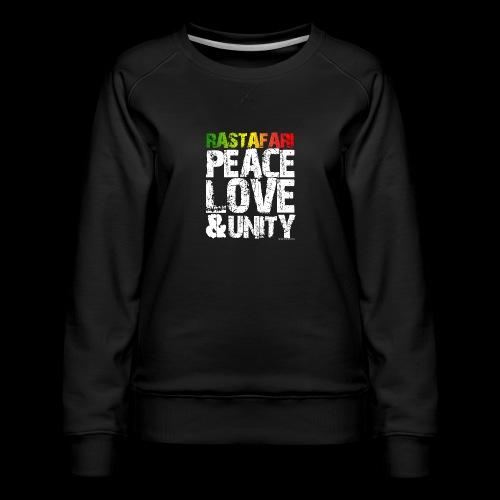 RASTAFARI - PEACE LOVE & UNITY - Frauen Premium Pullover