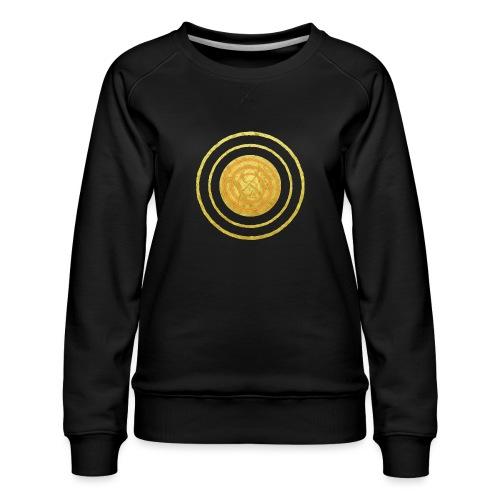 Glückssymbol Sonne - positive Schwingung - Spirale - Frauen Premium Pullover