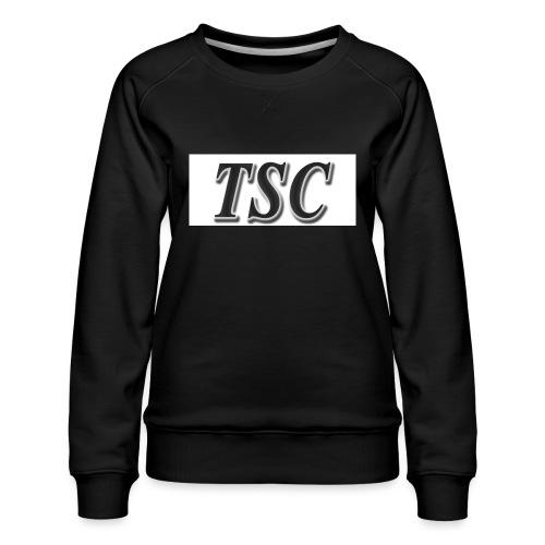 TSC Black Text - Women's Premium Sweatshirt