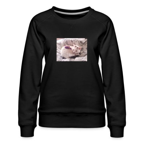 CAT SURROUNDED BY MICE AND BUTTERFLIES. - Women's Premium Sweatshirt