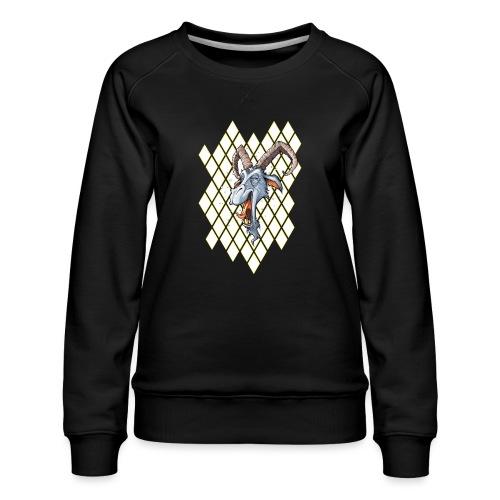 blauer bock - Frauen Premium Pullover