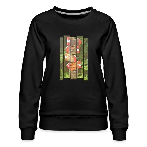 De verwarde hike - Vrouwen premium sweater