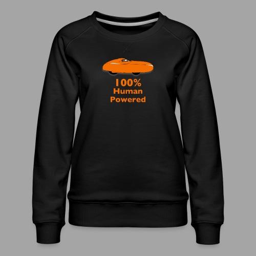 100% human powered - Naisten premium-collegepaita