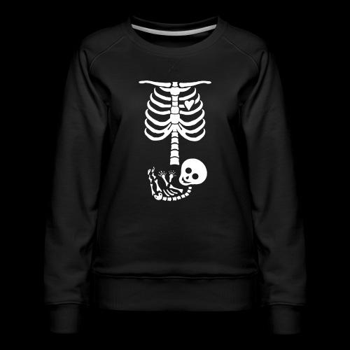 Baby Skelett US Version Maternity / Schwangerschaf - Frauen Premium Pullover