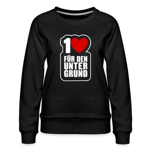 1 Herz für den Untergrund - Logo weiß - Frauen Premium Pullover