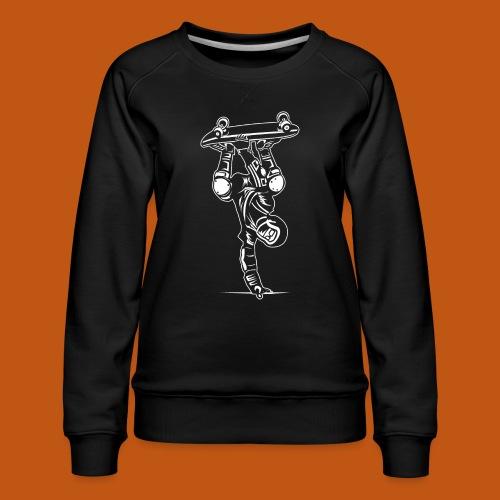 Skater / Skateboarder 02_weiß - Frauen Premium Pullover