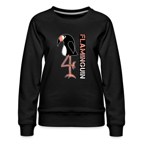 Pinguin Flamingo Flaminguin - Frauen Premium Pullover